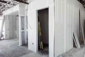 Cortex Construction Commercial finsh-out - sheetrock and door openings