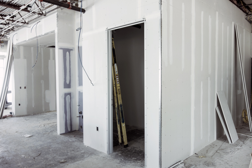 Cortex Construction Commercial finish-out - sheetrock and door openings